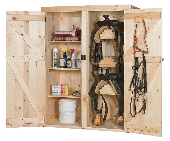 Saddle cabinets eberly barnseberly barns for Tack cabinet plans
