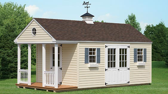 Colonial Style Storage Shed