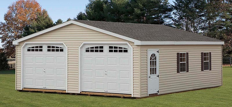 Prefab Car Garages One Two Three Car Portable Garages Pa: Eberly BarnsEberly Barns