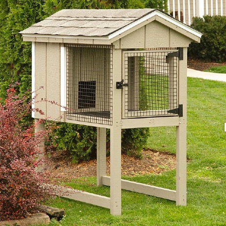 Did you know we sell rabbit hutches too eberly for Outdoor rabbit hutch kits