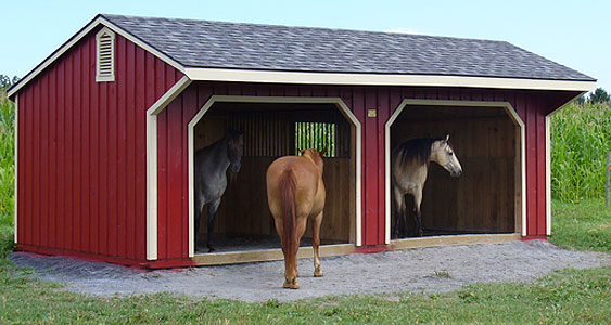 EBERLY BARNS - Run-In Horse Barns